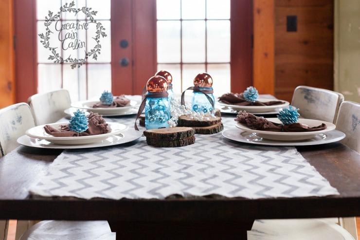 Christmas Table Setting | CreativeCainCabin.com
