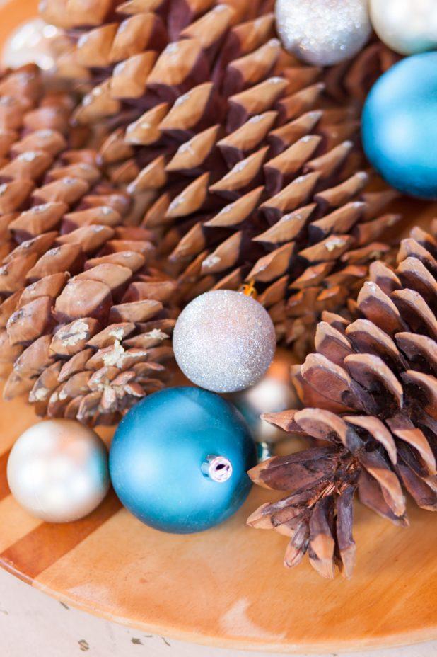 Easy Rustic, Natural Element Winter Tray | Christmas Tray | Holiday Decor | Creativecaincabin.com