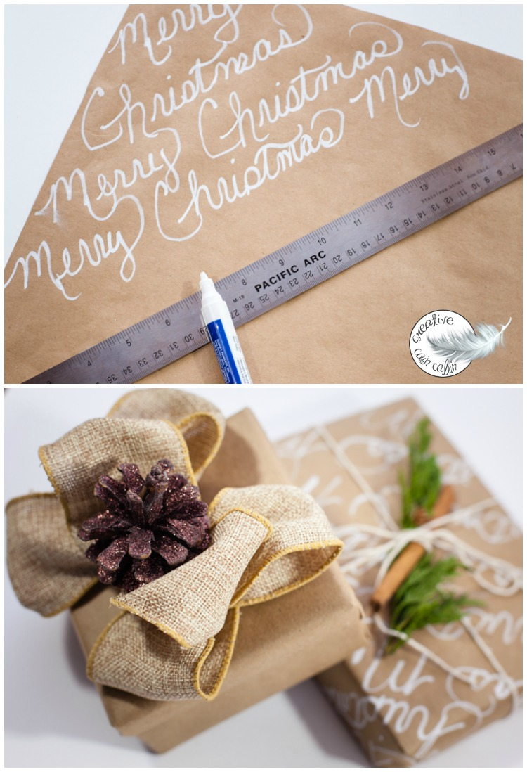 How to Get Several Gift Wrap Looks Using Only Brown Craft Paper and Nature   creativecaincabin.com