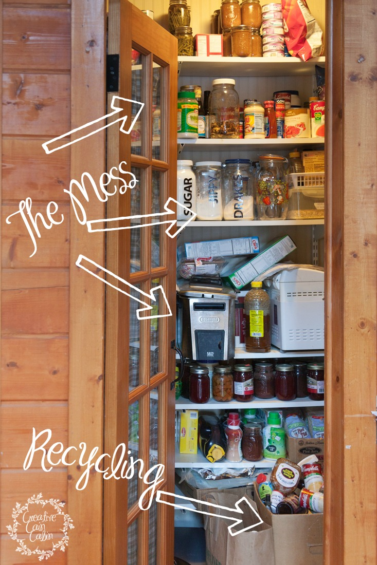 Before Pantry Organization | Creativecaincabin.com