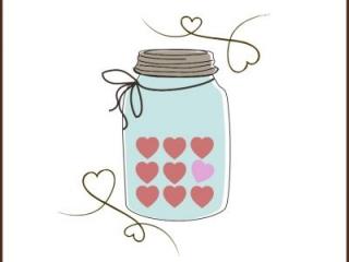 Valentine Candy Heart Mason Jar Printable  CreativeCainCabin.com
