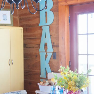 """Bake"" Sign in the Dining Room"