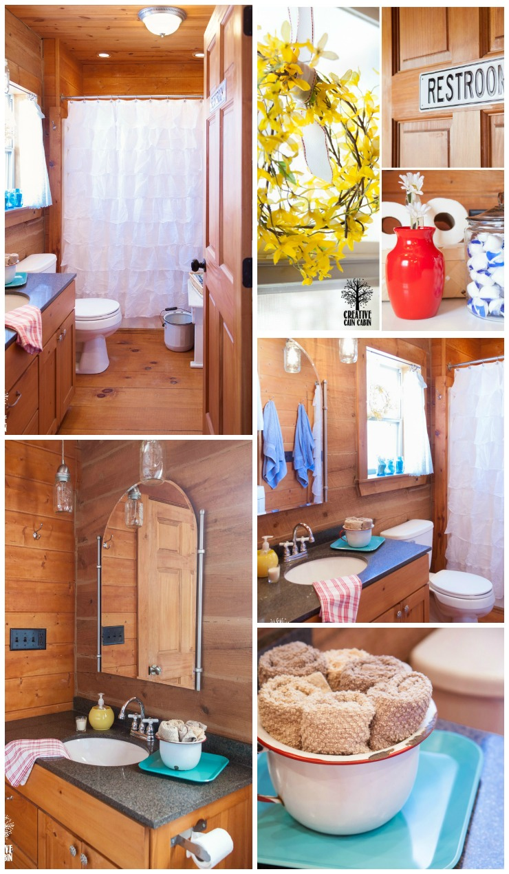 $20 Bathroom Update | Shop Your Home For A New Look | CreativeCainCabin.com