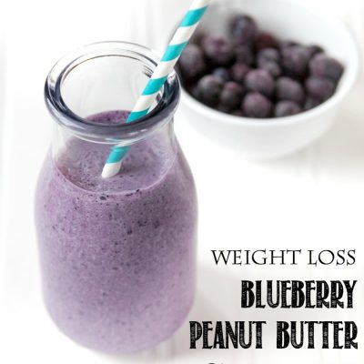 Weight Loss Blueberry Peanut Butter Smoothie