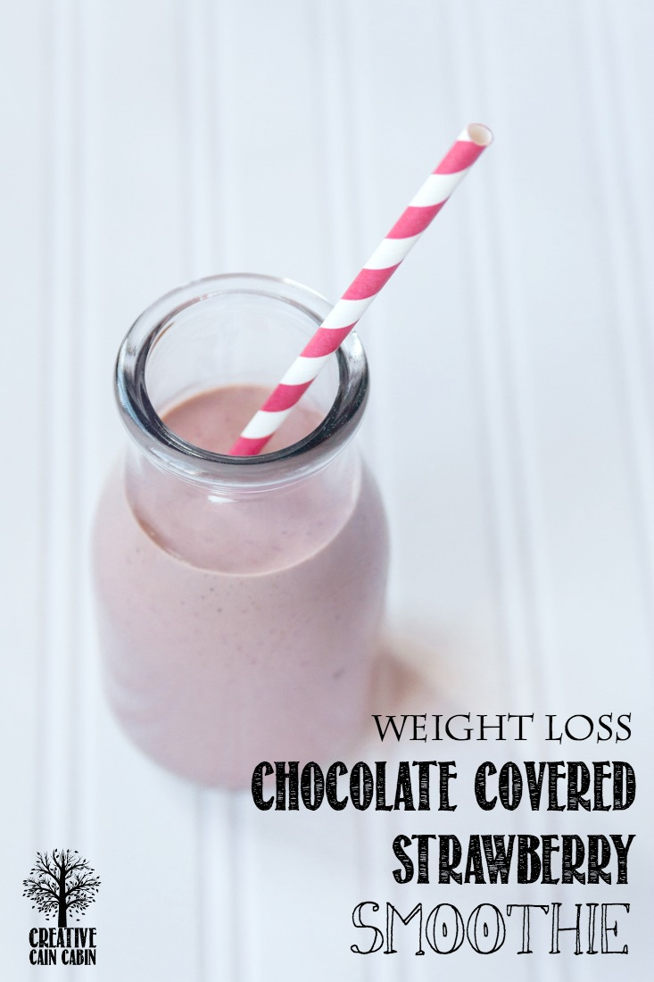 Weight Loss Chocolate Covered Strawberry Smoothie