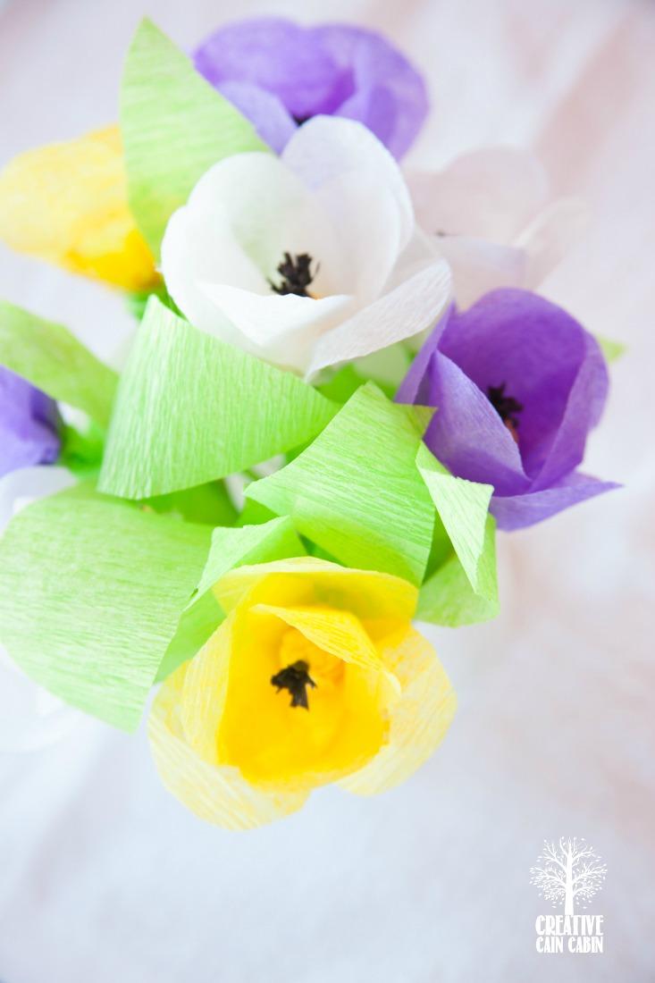 Crepe Paper Flowers | CreativeCainCabin.com