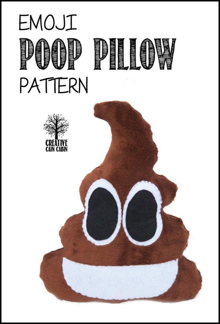 Emoji Poop PIllow Pattern | CreativeCainCabin.com