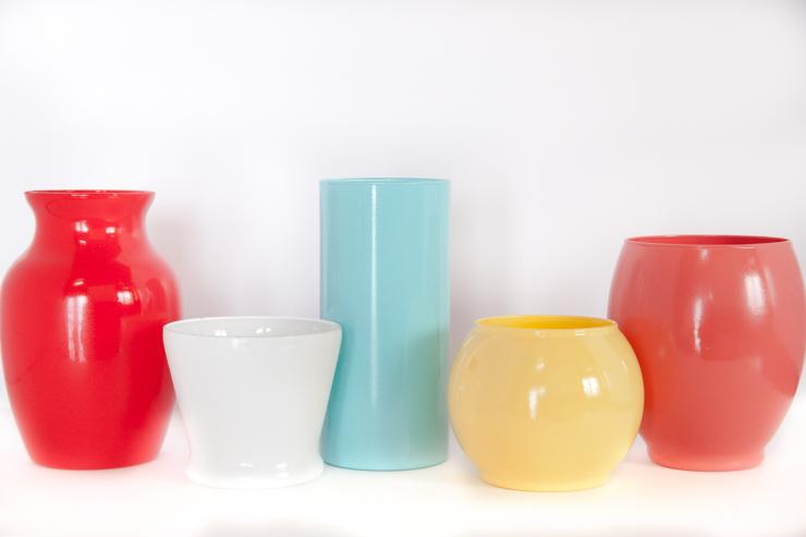 DIY Painted Glass Vase | CreativeCainCabin.com