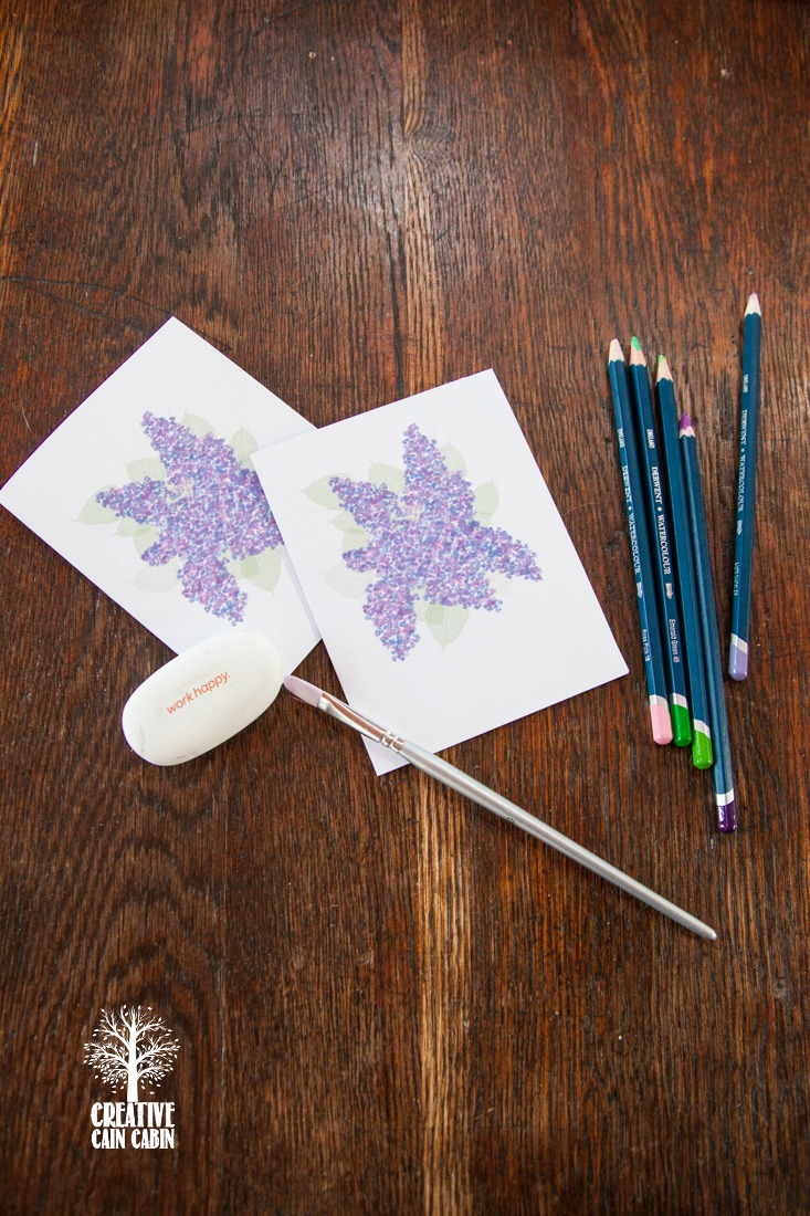 Printable Lilac Note Cards | CreativeCainCabin.com