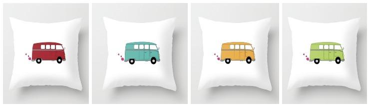 Love Bus Pillows | CreativeCainCabin.com