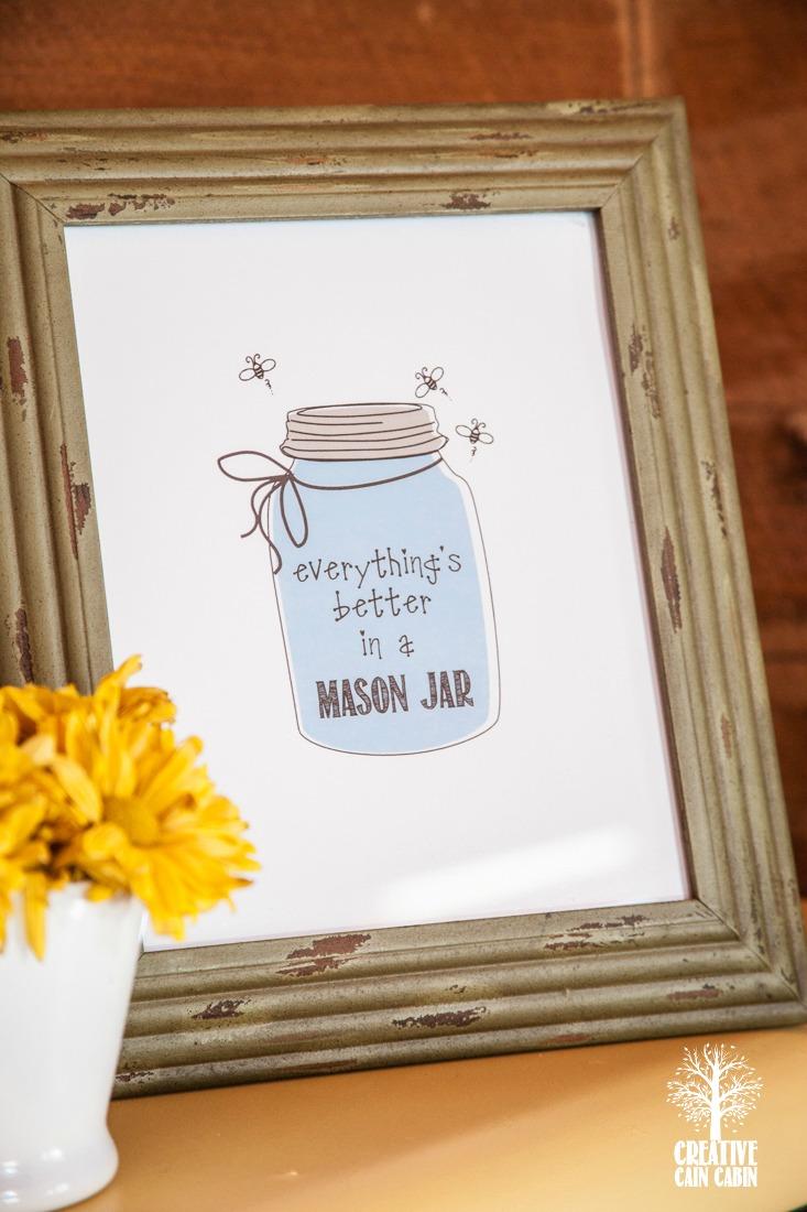 Mason Jar Printable |CreativeCainCabin.com