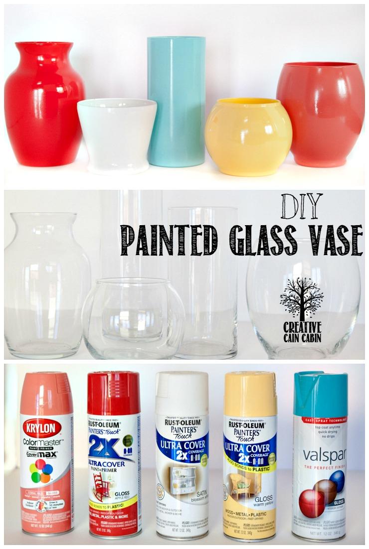 DIY Painted Glass Vase   CreativeCainCabin.com
