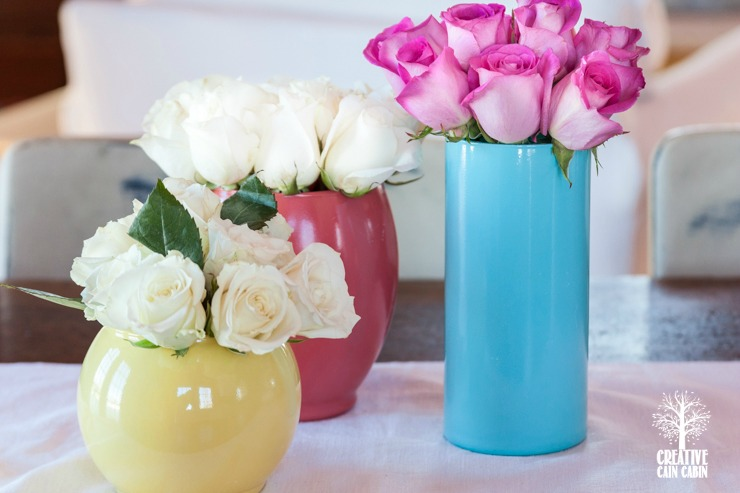 Diy Painted Glass Vase Creative Cain Cabin