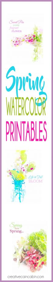 Spring Watercolor Printables