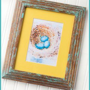 Robins Egg Nest | Spring | Birds Nest | Watercolor Printable | CreativeCainCabin.com