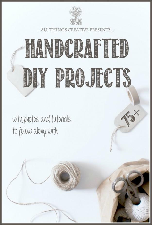 Handcrafted DIY Project Roundup   CreativeCainCabin.com