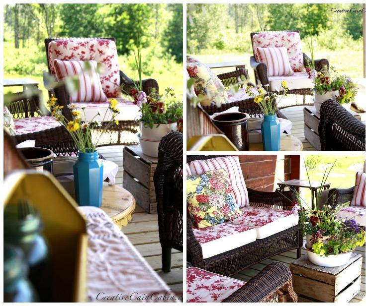 Porch Decor | One Porch Styled 6 Ways | CreativeCainCabin.com