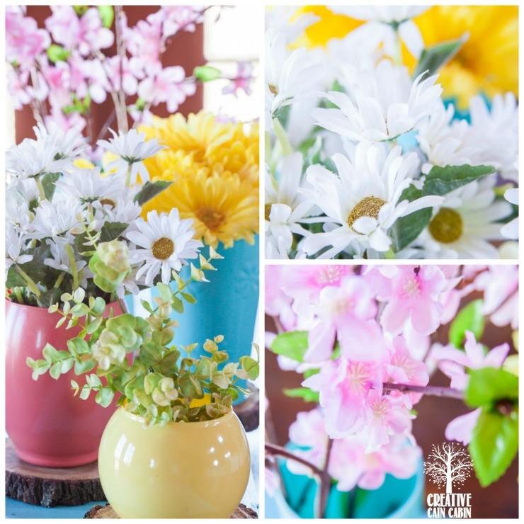 Spring Flower Arrangement | CreativeCainCabin.com