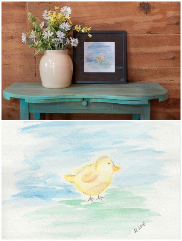 Watercolor Chick Printable   CreativeCainCabin.com