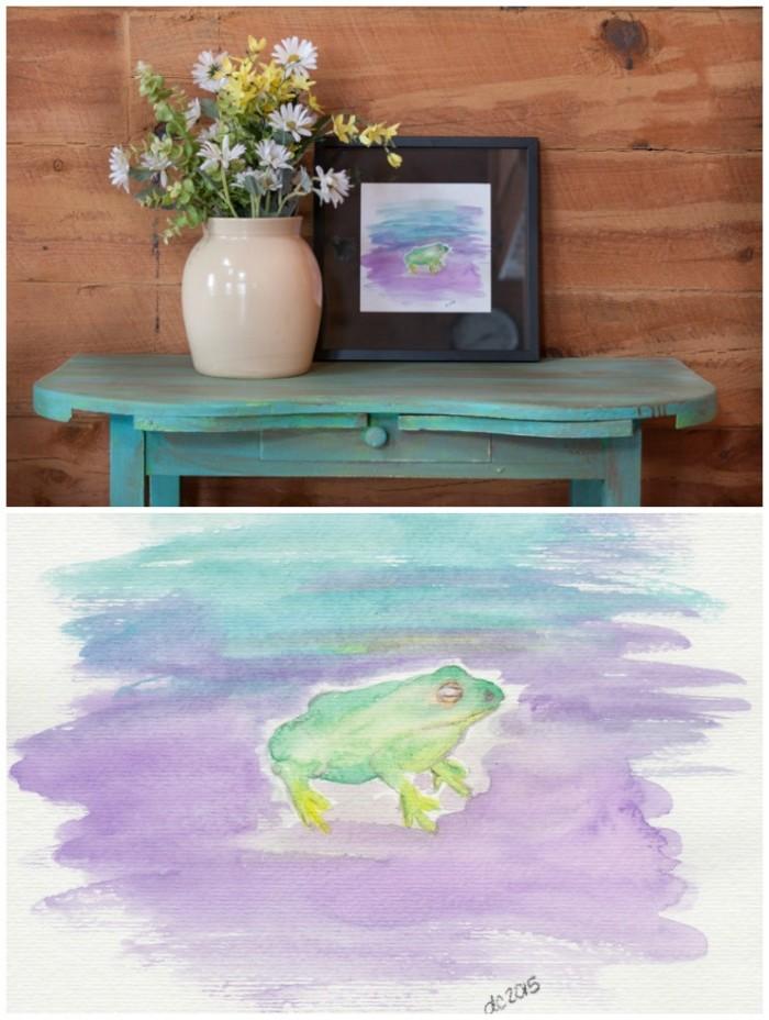 Watercolor Frog Printable | CreativeCainCabin.com