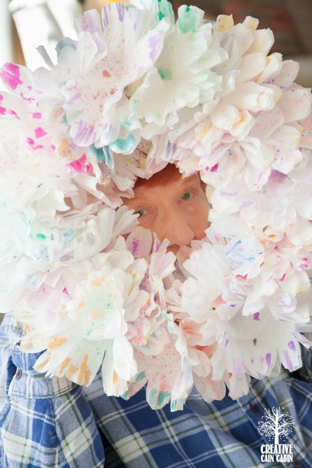 Watercolor Coffee Filter Wreath | Spring Wreath | DIY Wreath | CreativeCainCabin.com