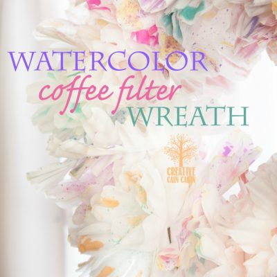 Watercolor Coffee Filter Wreath