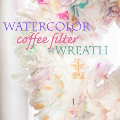 Watercolor Coffee Filter Wreath