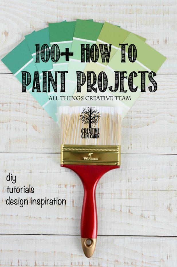 Paint Project Ideas | Spray Paint | Chalk Paint | Reclaim Paint | DIY | Inspiration | CreativeCainCabin.com