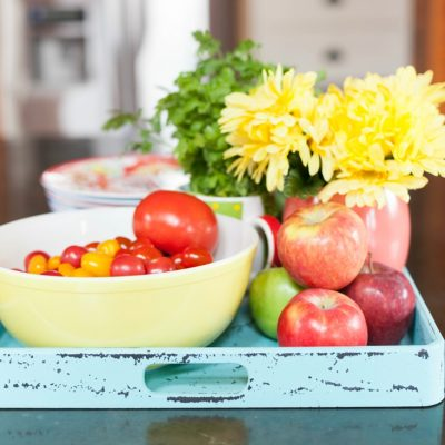 Style a Kitchen Tray with Edibles