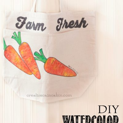 Watercolor Tie Dye Farmers Market Bag