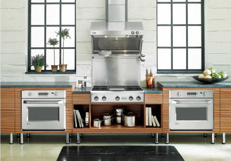 White Kitchen | Farmhouse Style | Exposed Beam Ceiling | Black and White Checked Floor | White Appliances | GE Appliances | #OurAmericanKitchen | #ad  | CreativeCainCabin.com