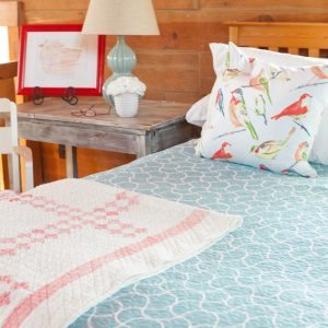 Colorful Bedroom Decor | Jeweled Damask Quitl |Reversible Quilt | CreativeCainCabin.com
