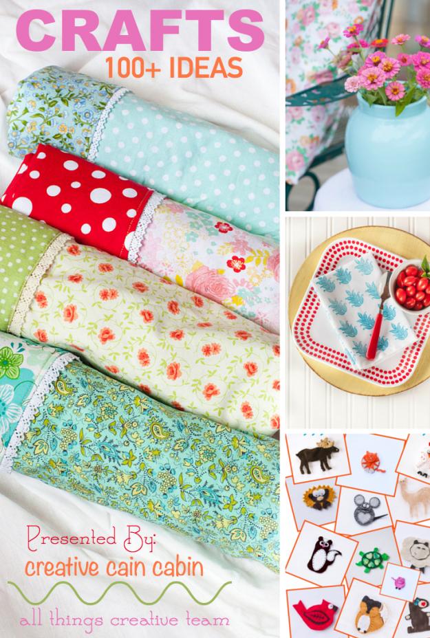 Craft Ideas 100+ | DIY | Crafts | Sewing | Paint | Stencil | Tie Dye | Paper | Beads | CreativeCainCabin.com