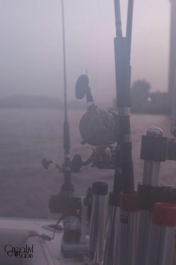 Fishing in the Fog | CreativeCainCabin.com