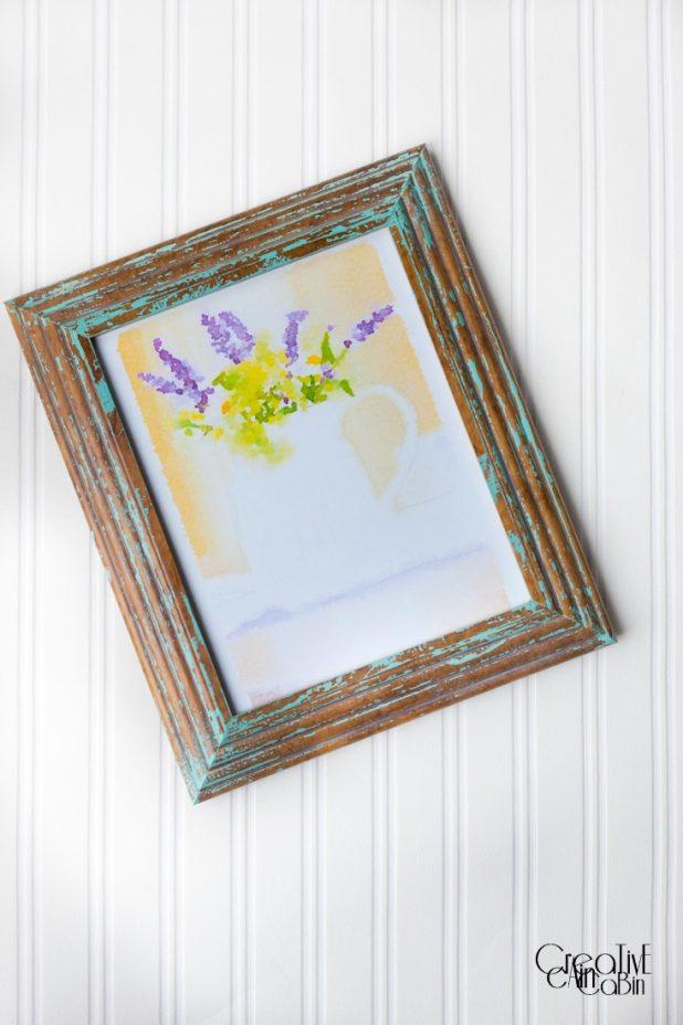 Summer Flower Arrangement Printable  | Waterlogue | CreativeCainCabin.com