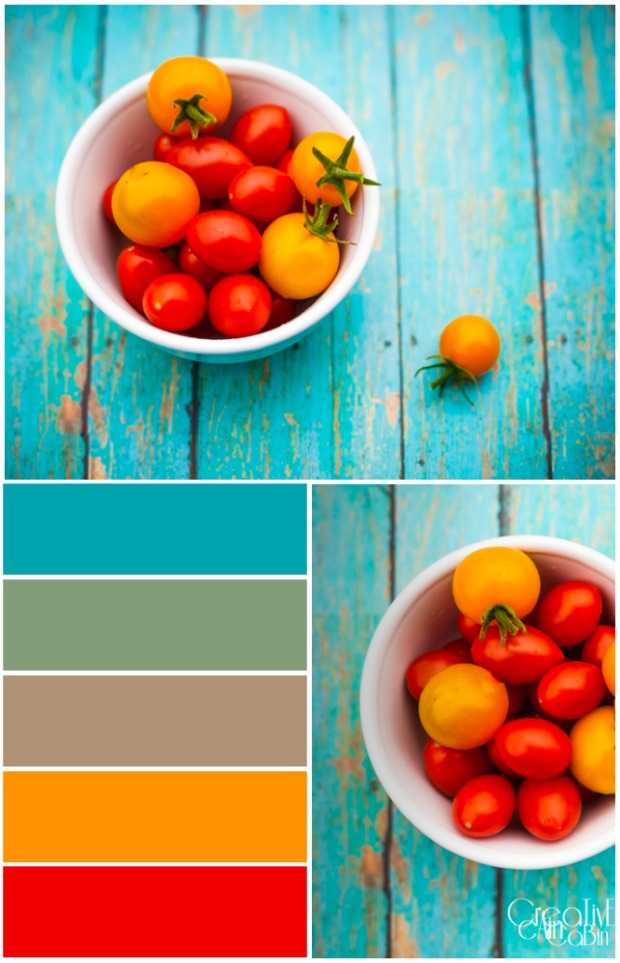 Sun Sugar and Cherry Tomato | Color Palette | PicMonkey | CreativeCainCabin.com