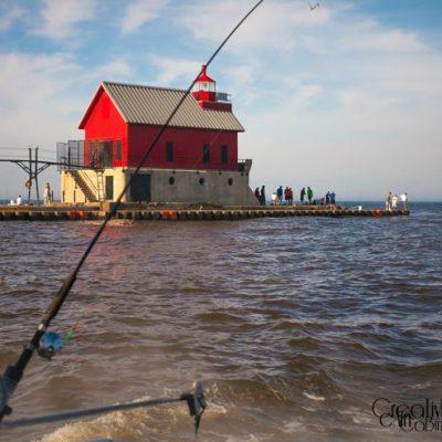 Salmon Fishing Lake Michigan