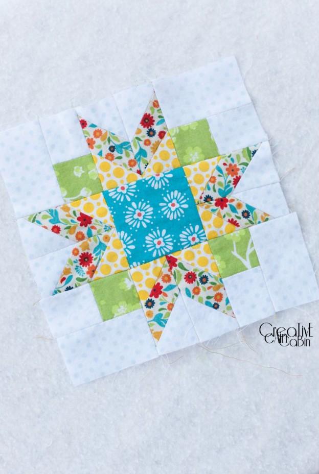 Winter Star Quilt Block | Farm Girl Vintage | CreativeCainCabin.com