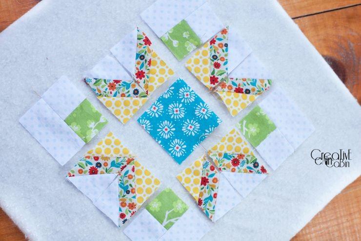 Winter Star Quilt Pieces   CreativeCainCabin.com