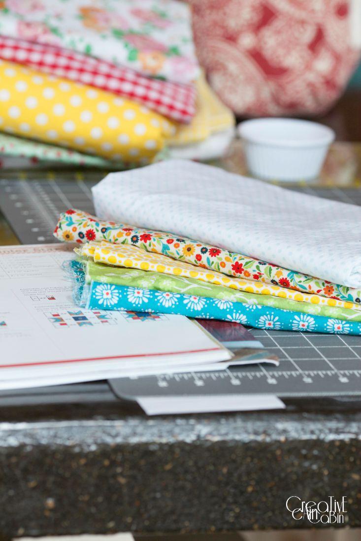 Winter Star Quilt Block Fabric