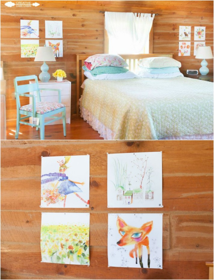Bedroom Art Using Calendar Pages | CreativeCainCabin.com