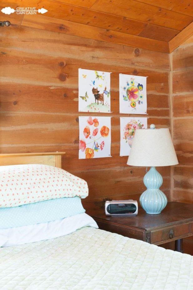 Bedroom Art Using Calendar Pages | CreativeCainCabin.com