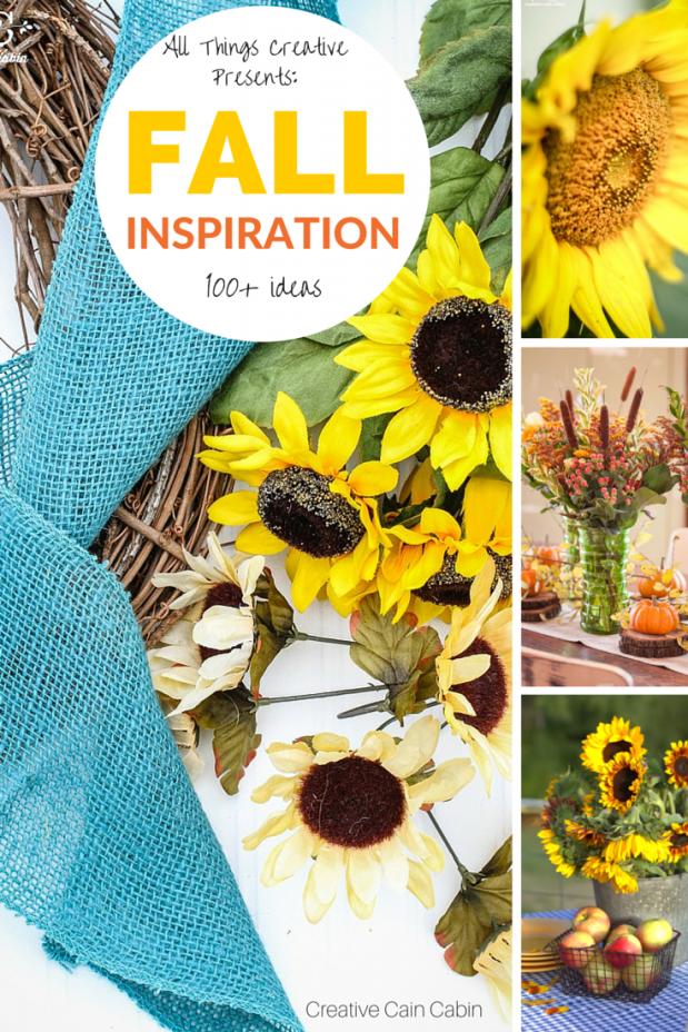 Fall Inspiration | Fall Crafts | Fall Recipes | Fall Decor | Over 100+ Ideas | CreativeCainCabin.com