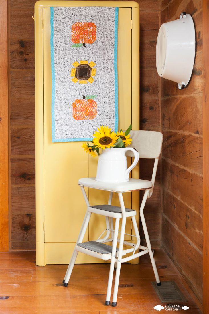 Pumpkin and Sunflower Table Runner | Farm Girl Vintage | Sewing | Quilting | CreativeCainCabin.com