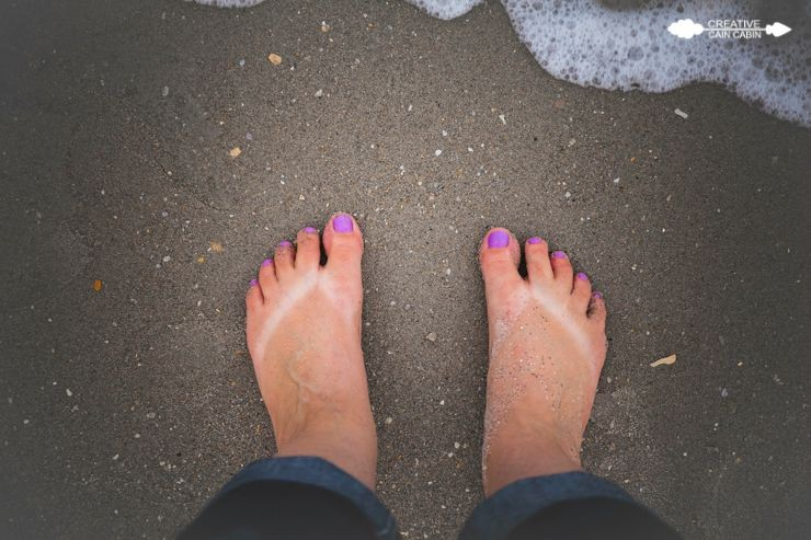 Feet In The Sand | CreativeCainCabin.com