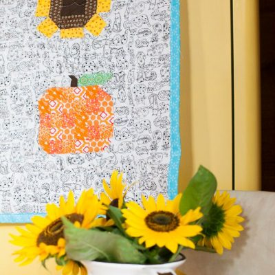 Quilted Pumpkin & Sunflower Fall Table Runner