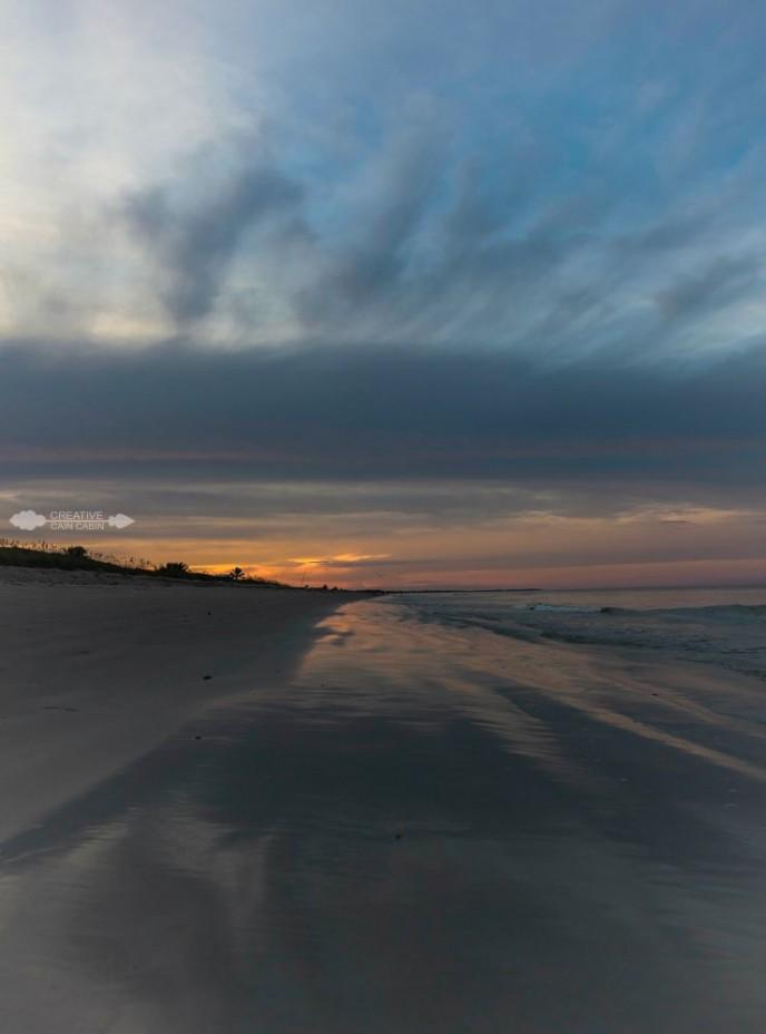 Sunset At The Beach | Ocean | CreativeCainCabin.com