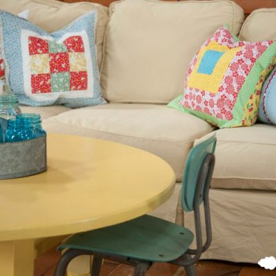 Yellow Painted Coffee Table in Soft Duckling