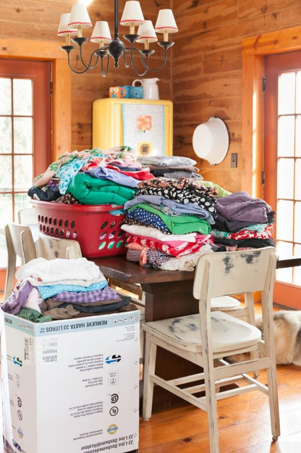 Purging a Closet of Things I Don't Wear and Donating them to Charity or a Resale Shop. Don't Get Weighed Down By Clutter.