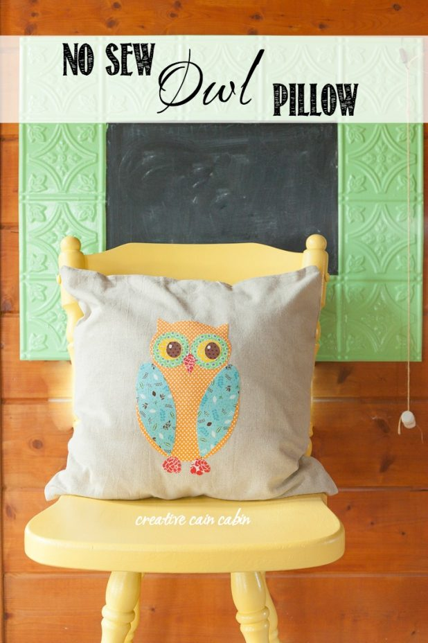 Diy No Sew Owl Pillow: DIY No Sew Owl Pillow   CREATIVE CAIN CABIN,